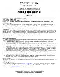 resume sample receptionist cv examples medical receptionist resume medical receptionist resumes