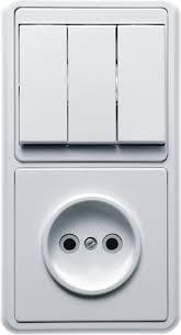 <b>Блок выключатель</b> с розеткой <b>БКВР</b>-039 трехклавишный б/з ...