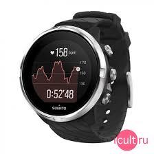 Спортивные часы с пульсометром <b>Suunto 9</b> 50 мм <b>Black черные</b> ...