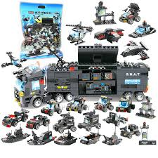 <b>8 IN 1 City</b> Police SWAT Truck Car Building Blocks Sets Technic ...