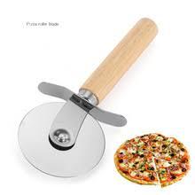 Деревянная ручка ножа для пиццы, диаметр 6,5 см, <b>резак для</b> ...