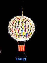 hot air balloon hanging light shade personalised in childs name kids lighting childrens childrens pendant lighting