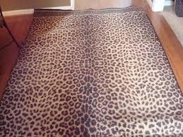 rectangle leopard print rug for pretty floor decoration ideas chic zebra print rug