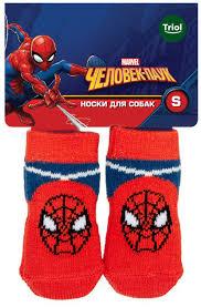 <b>Носки для собак Triol</b> Marvel Человек-паук, размер S — купить в ...
