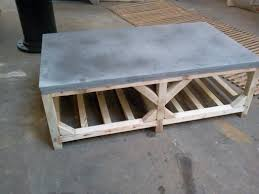 images zinc table top: adapted crate style coffee table zinc top