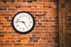big clock on a brick wall brick desk wall clock