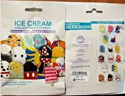 Disney Collectible <b>Pin</b> Pack ICE CREAM Mystery Bag of 5 <b>Pins</b> ...