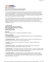 skills resume nanny skills  seangarrette cosample resume skills section sample resume skills section   skills resume