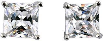 IDS 1 Pair Unisex CZ Clear Square Magnetic Clip On ... - Amazon.com