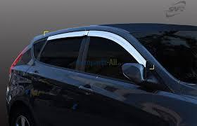 <b>Дефлекторы</b> боковых <b>окон</b> хром на Хендай Солярис Hyundai ...