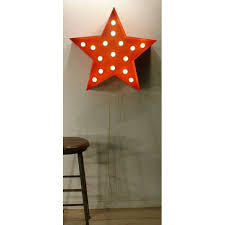 metal star wall decor: metal star wall decor makipera lighted orange star wall sign  x