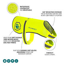 <b>Pet</b> & Protect Premium <b>Dog</b> Reflective Vest (Neon) <b>High</b>-<b>Visibility</b>