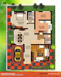 Sq  Ft Bedroom Contemporary Villa Elevation and Plan    Contemporary Home Designs