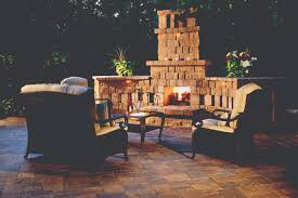 outdoor fireplace paver patio: an outdoor fireplace can be either integrated into your patio or can be integrated into a porch when your outdoor fireplace is freestanding