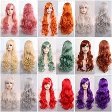 80cm Women's Heat Resistant Hair Blonde <b>Long</b> Curly Full Wig ...