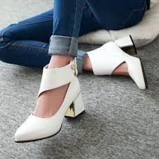 <b>2018</b> New Arrivals <b>Fashion Thick</b> Med Heels <b>Platform</b> Pumps Dress ...