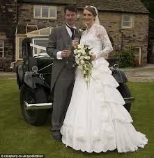 Something borrowed  Sarah gave the dress a new lease of life when she married Jonathan