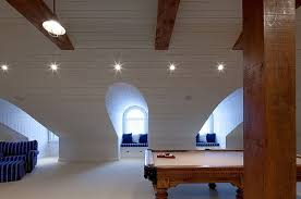 view in gallery attic rec room in a modern home in toronto attic lighting ideas