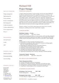 project manager cv template  construction project management  jobs    a one page version of a very popular cv design