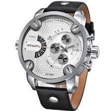 Shop <b>WEIDE</b> 3301 <b>Men Military</b> Quartz <b>Sports</b> Watch Leather Strap ...