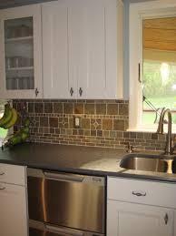 slate backsplash kitchen