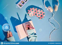Healthy Night <b>Sleep</b> Creative <b>Concept</b> In Pink And <b>Blue</b>. <b>Sleep</b> Mask ...