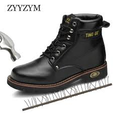<b>ZYYZYM</b> Men Safety Boots <b>Steel Toe</b> Shoes Men Industrial ...
