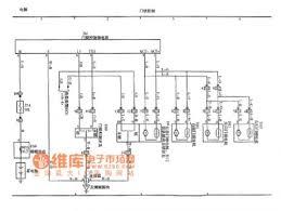 VIOS Car Door Lock Control Circuit Diagram  A