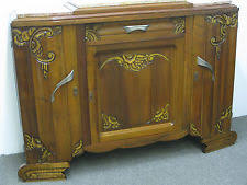1935 french art deco sideboard buffet server credenza art deco office credenza