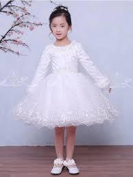 White <b>Lace</b> Long Sleeve <b>Winter</b> Wedding Flower <b>Girl Dresses</b> ...