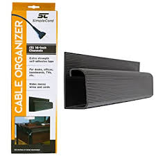 SimpleCord J Channel <b>Cable Organizer 5</b> Black Raceway Channels ...