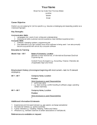 canadian sample resume template canadian sample resume
