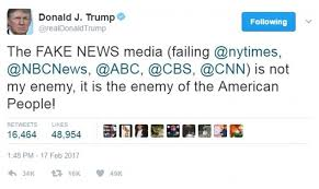 Image result for trump says media enemy of people pics