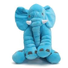 Soft Stuffed Plush Elephant Sleep Pillow <b>Baby Kids</b> Lumbar Cushion ...