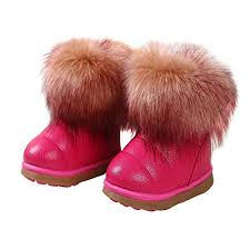 KVbaby Kids Winter Warm Snow Boots Girl's Fur ... - Amazon.com
