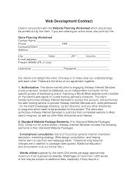 web development contract web development contract used in by web developer contract template printable documents