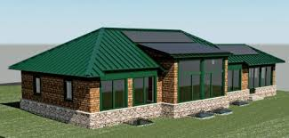 Getting the Green For Your High Performance Home   Home Power MagazineModel of Normand Home
