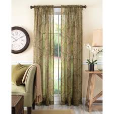 Kitchen Curtains At Walmart Better Homes And Gardens Tapestry Sheer Curtain Panel Walmartcom