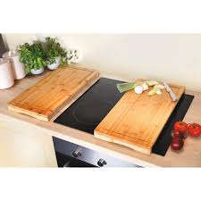 <b>Bamboo</b> Hob Protection Cutting Boards - <b>Set of 2</b> - Scotts of Stow