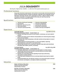 teacher resume example emphasis   thumbnail pngresume examples