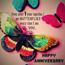 First Anniversary Quotes and Messages for Him and Her via Relatably.com