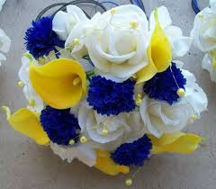 <b>BLUE</b> LILY WITH YELLOW ROSES | <b>CUSTOM made</b> to order ...