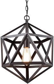 CLAXY Ecopower Industrial <b>Geometric Pendant Lighting</b> Metal ...