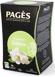 <b>Чай зеленый Pages</b> Био, жасмин, 20 пакетиков