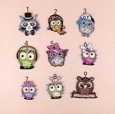 2019 8P 114 <b>Cartoon Owl</b> 3d Iron On <b>Patches</b> Embroidered Sew On ...