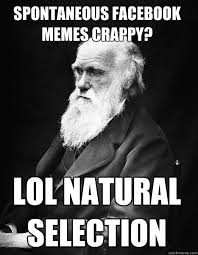 spontaneous facebook memes crappy? lol natural selection ... via Relatably.com