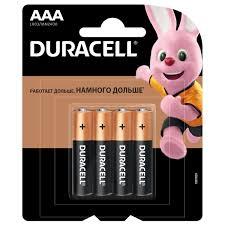 <b>Батарейка</b> алкалиновая <b>Duracell</b> Basic <b>ААА</b> 4 шт. в Москве ...