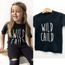 Aliexpress.com : Buy Wild <b>Child</b> Letter Print Kids <b>Boys Girls Summer</b> ...