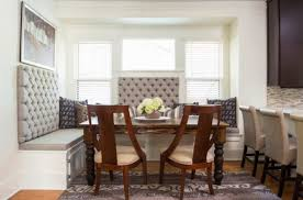 tufted dining bench with back banquette with storage and tufted back plus rustic wood table added wooden chair with cream upholstered seat with upholstered stool bench plus dining table
