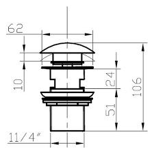 Донный клапан Лотос для <b>раковины Bronze de luxe</b> 21976 (латунь)